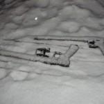 Пистолет пневматический зимой